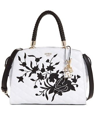 GUESS Women s Heather Embroidered Satchel Handbag