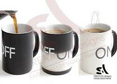 Personalised Magic Heat Colour Changing Mug Cup Image Text Photo Fathers day