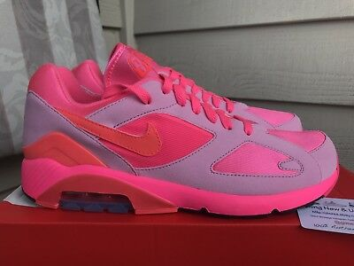 buy popular 26789 2ba9a Nike Comme des Garcons Air Max 180 CDG Mens Sneakers 9 Pink