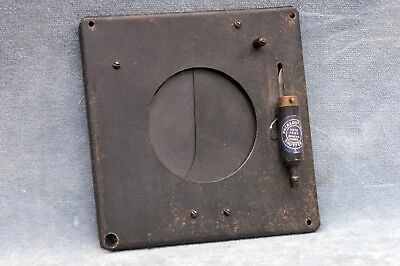 """Packard Ideal Shutter - 4.5"""" Square, 2.25"""" Hole"""