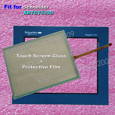 for Schneider XBTGT5330 Touch Screen Glass with Protective Film 1 Year Warranty