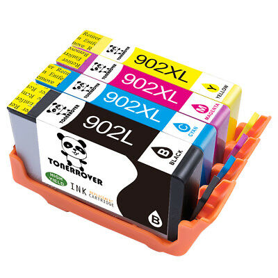 4 Pack Ink Cartridges for HP 902L 902XL OfficeJet 6958 6950 6954 6962 Printers
