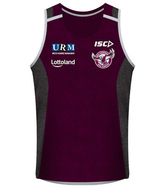 Manly Sea Eagles 2018 NRL Maroon Training Singlet (Sizes S - 3XL)