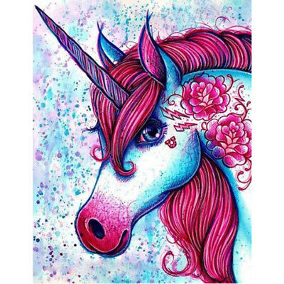 DIY Oil Painting Pain By Numbers Kit on Canvas Wall Art Pictures -Unicorn