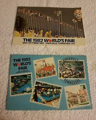 1982 World's Fair Knoxville Tennessee Postcards set of 2 - Great condition