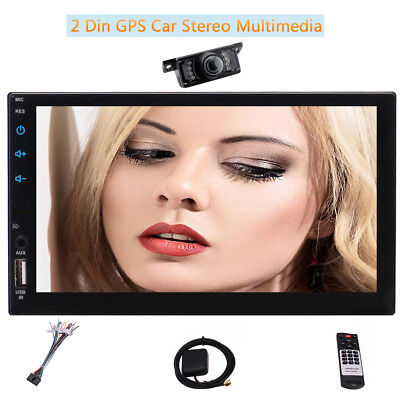 """2 Din Android 6.0 Car Stereo Radio GPS 7""""Touchscreen HD MP5 Player+Backup Camera"""