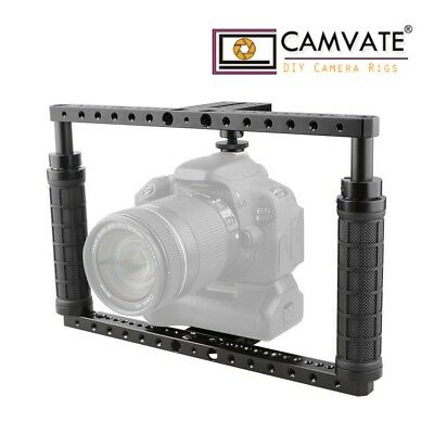 CAMVATE DSLR Camera Cage Rig Handle Full Frame Fr Canon Sony a7SII Fujifilm X-T2