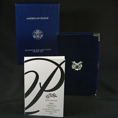 2006-W 4 Coin Proof Platinum American Eagle Box OGP & COA No Coins