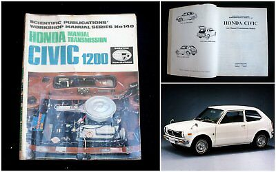 1970's Honda Civic 1200 Workshop Manual (Coupe)