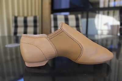 Jazz Dance Shoes Tan Leather Split Sole Stretch Elastaboot Dttrol Brand