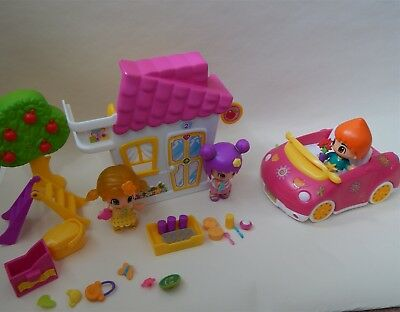 Pinypon little house, car and 3 dolls