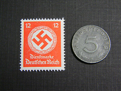 Rare WW2 German 5 Reichspfennig Coin World War Two WW2 with Scarce Red Stamp
