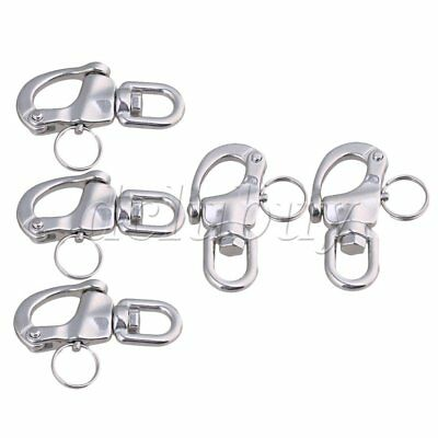 5Pieces 67x39mm 304 Stainless Steel Durable Swivel Snap Shackle Small Size