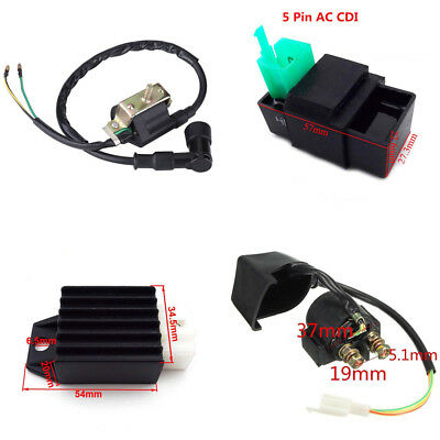 Ignition Coil Regulator Rectifier Relay For 50cc 90cc 110cc Chinese ATV Quad 4