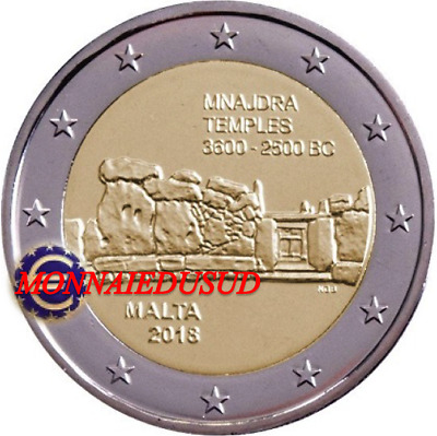 2 Euro Commémorative Malte 2018 - Temple de Mnajdra