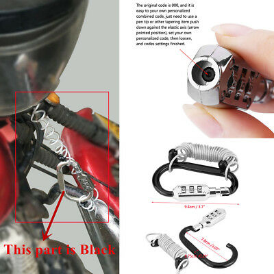 1x New Resettable Code PIN Combination Lock Anti Theft Bike Motorcycle Helmet