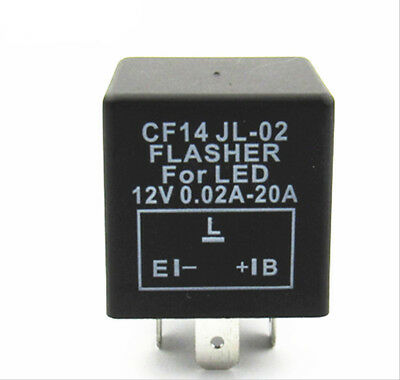CF14 CF-14 JL-02 EP35 LED Flasher Relay Fix Turn Signal Hyper Flash Issue 3-Pin