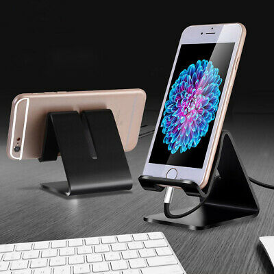 Universal Aluminum Metal Phone Holder Desk Stand For Samsung iPhone 8 New X