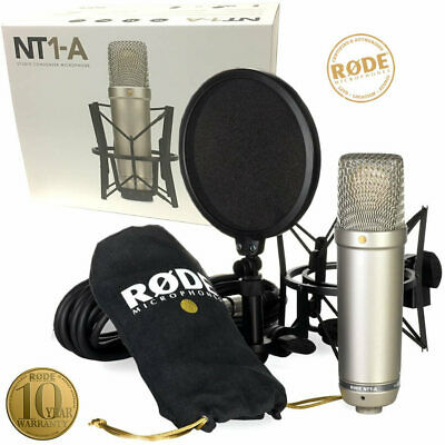 Rode NT1A Large Diaphragm Studio Condenser Microphone Kit - Including Shock Moun