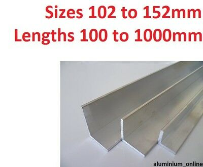 ALUMINIUM ANGLE UNEQUAL 102mm 127mm 152mm  L profile select size in listing
