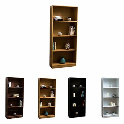 Cambridge 4 Tier Large Bookcase Display Shelving Storage Unit Wood Stand Shelves