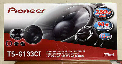 PIONEER 500W TOTAL 2WAY 5.25INCH 13cm CAR DOOR 2WAY COMPONENT SPEAKERS +TWEETERS