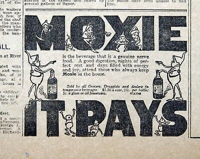 Moxie It Pays! - 1907 Detroit News Newspaper Page