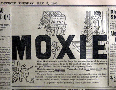 Moxie Comes In At The Door - 1905 Detroit Newspaper Page