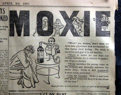 Moxie Recommended For Spring Tired Feeling - 1905 Detroit Newspaper Page
