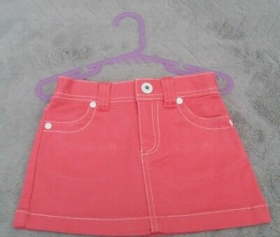 Baby Girls Pink with White Thread Mini Skirt (9-12 Months)