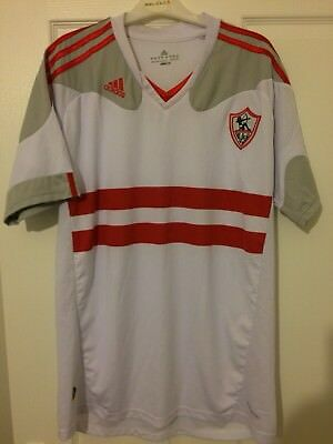 2013/2014 Zamalek SC home football shirt Adidas XL men's rare extra large Egypt