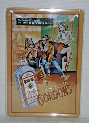 GVRMS1 Gordon's Vodka Retro Metal Sign New 30 cm H X 20 cm W