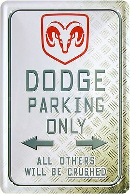 Blechschild 20x30 Dodge parking only US car Auto Werkstatt Garage Metall Schild