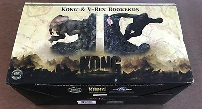KING KONG -- Kong and V-Rex Bookends -- WETA Collectibles -- Unopened