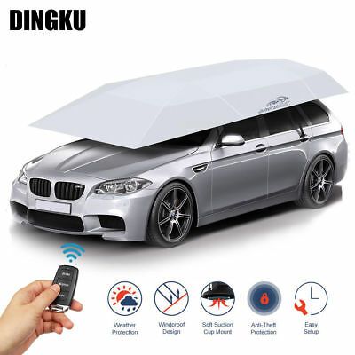 Universal Automatic Car Umbrella Tent Auto Shade Cover Remote Control Waterproof