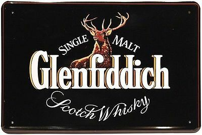 Blechschild 20x30 Glenfiddich Single Malt Scotch Whisky Whiskey Bar Schild