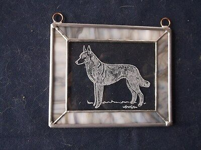 Belgian Malinois- Hand engraved  Ornament by Ingrid Jonsson