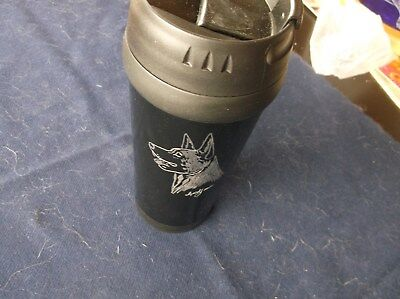 Belgian Malinois- Hand engraved Stainless Travel Mug by Ingrid Jonsson