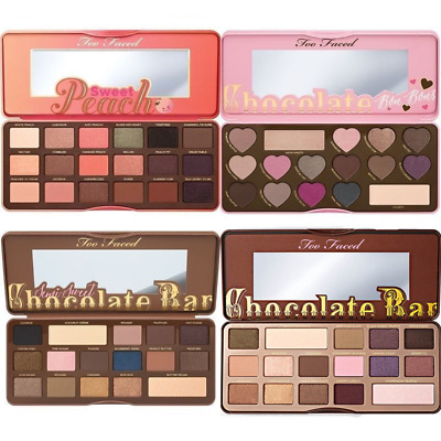 Too Faced Sweet Peach- Chocolate Bar- Bon Bons- Semi Sweet-Eye Shadow 18 Colours