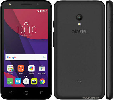 "Brand New Alcatel Pixi 4 5"" 5045X Smartphone Black 4G UNLOCK 8GB STORAGE 1GB RAM"