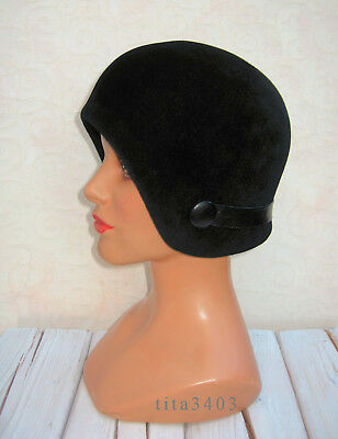 SPACE-AGE-Vintage-Hut _ 60s HELMET-CLOCHE-Style-Hat _ London-CARNABY-STREET-Look
