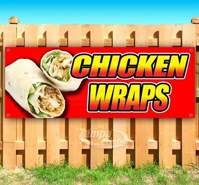 Business & Industrial CHICKEN ON A STICK BANNER Sign NEW Larger Size for Fair Carnival Stand Cart Retail & Services