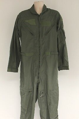 US Air Force Issued Flyer's Coverall Sage Green, CWU 27P, Various Sizes, Grade F