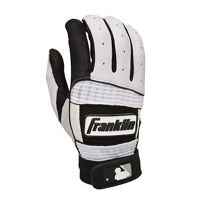(Youth Medium, Gray/Royal) - Franklin Sports Neo Classic Series Batting Gloves