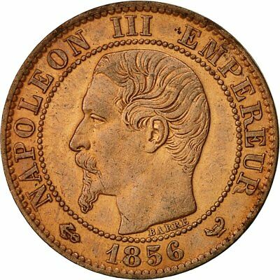 [#492839] Coin, France, Napoleon III, 5 Centimes, 1856, Lille, AU(55-58), KM
