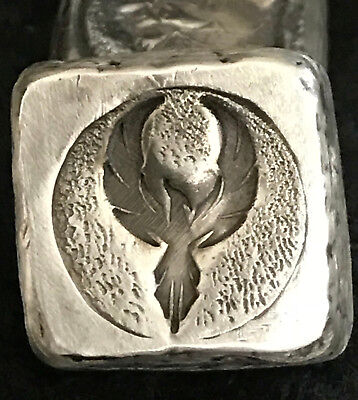 "1 TR/OZ MK BARZ  ""Rise of the Phoenix"" Stamped Cube .999 Fine Silver"