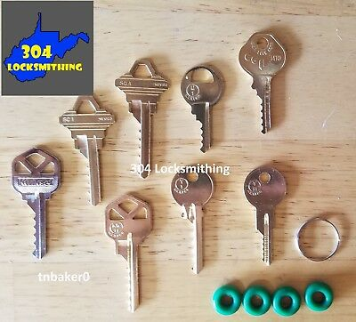 Professional 8 key Depth Key Set with bump rings