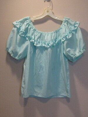 2704 Light Green The Great American Square Dance Co Peasant Blouse, Petite, B 40