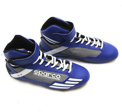 SPARCO Kart Racing BABY SHOES Mercury KB-3 BLUE Karting High Top Boots Race  NEW