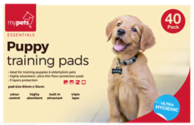 Puppy Training Pads 60 x 54 cm Odour Control, Built-in Attractant Triple Layer
